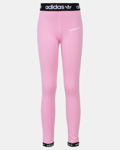 3fbf9030290d78 adidas Originals Poly Leggings Pink | Zando