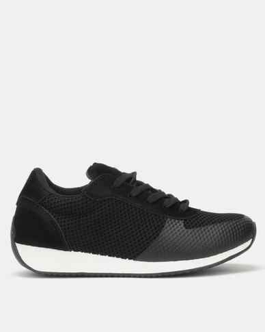 Pierre Cardin Textured Knit Sneaker Black