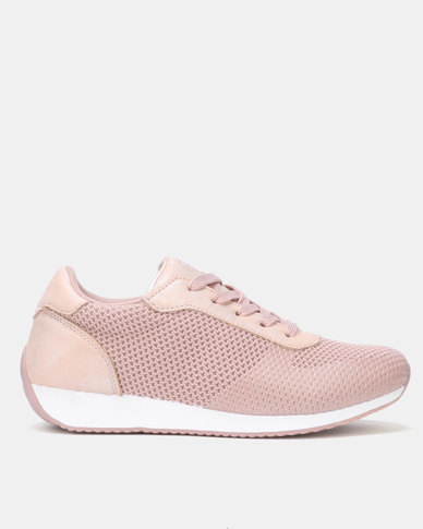 Pierre Cardin Textured Knit Sneaker Pink
