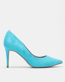 Steve Madden Lillie Heels Turquoise Suede