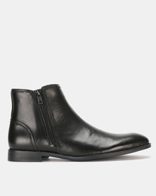 Steve Madden Epic Leather Boots Black