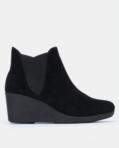 Crocs Leigh Wedge Chelsea Boots Black