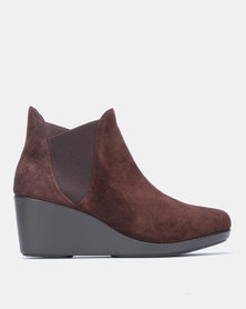 Crocs Leigh Wedge Chelsea Boots Espresso