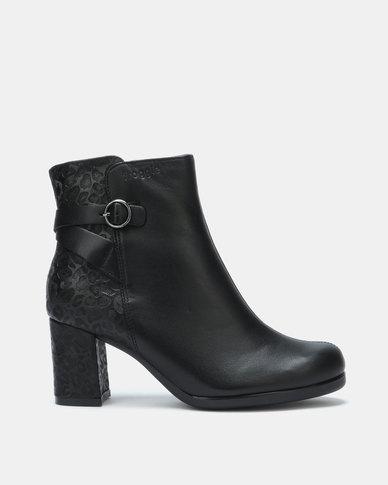 Froggie Billie Ankle Boots Black