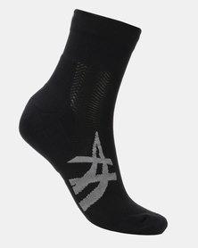 ASICS 2Pk Cushioning Socks Black