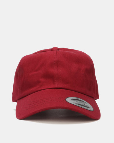 FLEXFIT Curved Peak Unstructured Dad Cap Wine