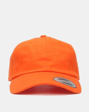 e08fdeb12a1c2 FLEXFIT Curved Peak Unstructured Dad Cap Orange Blaze