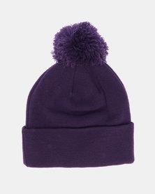 FLEXFIT PomPom Beanie Purple