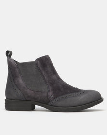 Queue Ankle Boots Navy