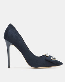 Sissy Boy Court with Detail Heels Navy