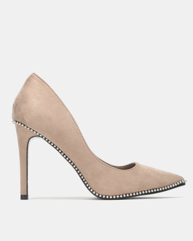 Sissy Boy Court with Trims Heels Taupe