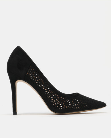 Sissy Boy Court with Pin Punch Detail Heels Black