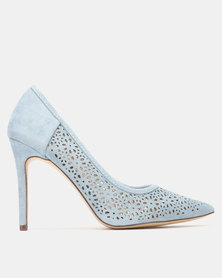 Sissy Boy Court with Pin Punch Detail Heels Blue