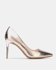Sissy Boy Metallic Court Rose Gold