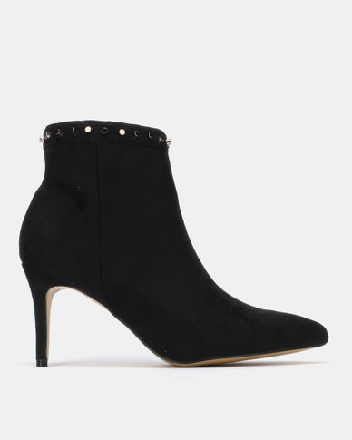 Sissy Boy Ankle Boot with Trim Detail Black