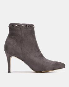 Sissy Boy Ankle Boot with Trim Detail Grey