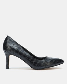 Gino Paoli Croc Detail Court Black