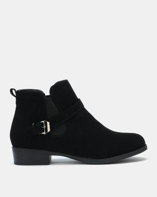 fcfbb5ddb4f8e Gino Paoli Microfibre Ankle Boots Black