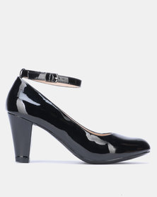 Franco Ceccato Heel with Ankle Strap Black