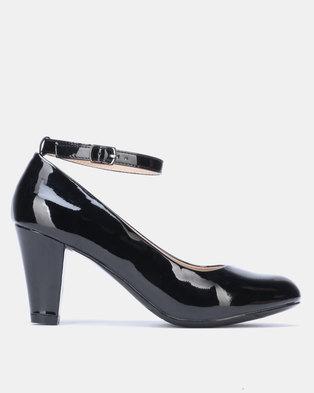 Franco Ceccato Heel with Ankle Strap Black