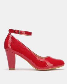 Franco Ceccato Heel with Ankle Strap Red