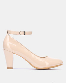 Franco Ceccato Heel with Ankle Strap Nude