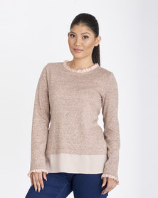 Contempo Cut & Sew Top Pink