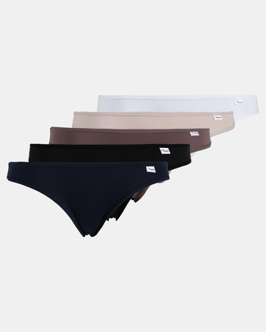 Playtex 5 Pack Premium Bikini Panties Multi