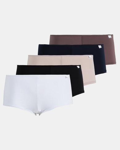 Playtex 5 Pack Premium Boyleg Panties Multi