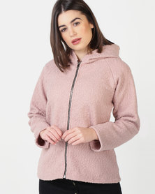 UB Creative Hoodie Jacket with Zip - Pink