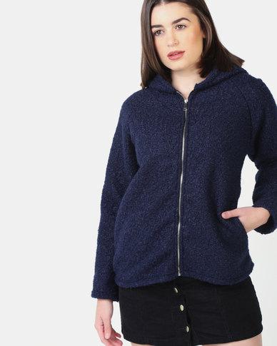 UB Creative Hoodie Jacket with Zip - Blue