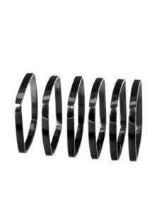 blomus Napkin Rings Nickel Fino Set of 6 in Black