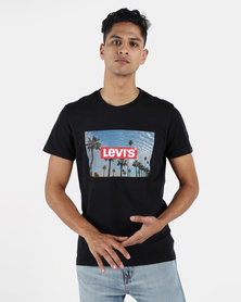 Levi's ® Graphic Set-in Crew Neck Mineral Black