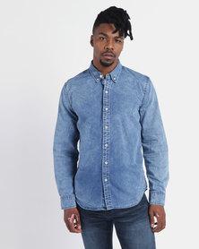 Levi's ® Classic No Pocket Shirt Mid Acid Wash Blue
