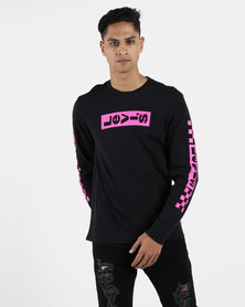 Levi's ® Long Sleeve Graphic Boxtab Tee Mineral Black