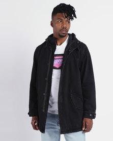 Levi's ® Fishtail Parka Jacket Stone Bleach Black