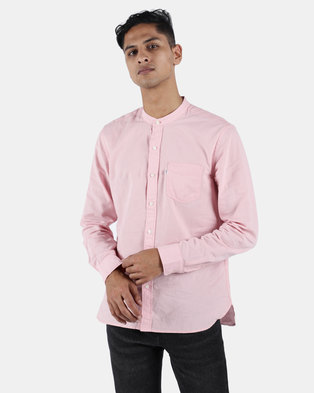 Levi's ® Mandarin 1 Pocket Burrows Shirt Coral Blush