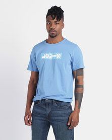 Levi's ® Relaxed Graphic Tee Lazy Tab Parisian Blue/White