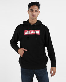 Levi's ® Relaxed Graphic Boxtab Oversized  Hoodie Mineral Black
