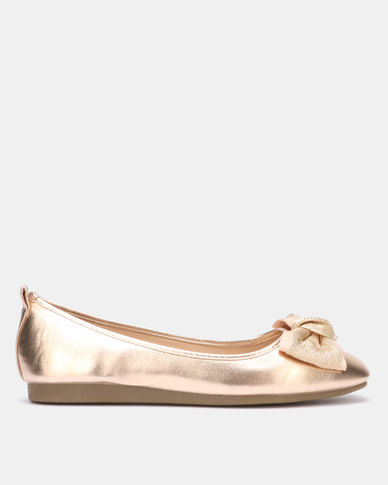 Butterfly Feet Lily Pump Rose Gold