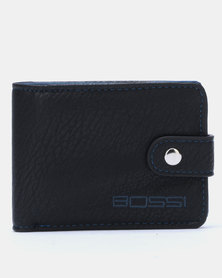 Bossi Small Billfold with Tab Wallet Black/Blue