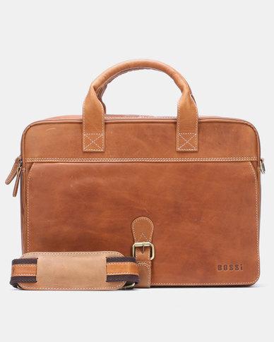 Bossi Oil Laptop Bag Tan
