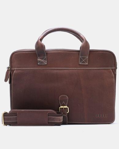 Bossi Oil Laptop Bag Brown