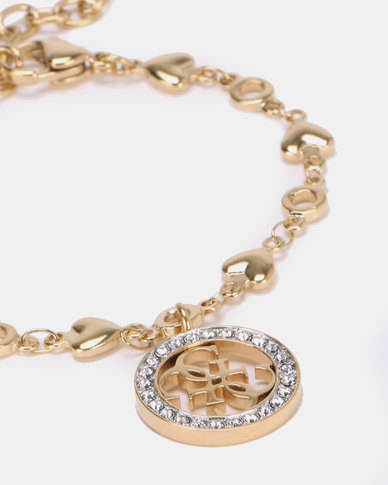 Guess Tropical Sun Heart Chain Gold-Plated