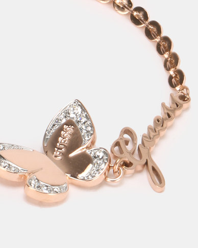 Guess Love Butterfly Charm Rose Gold-Plated