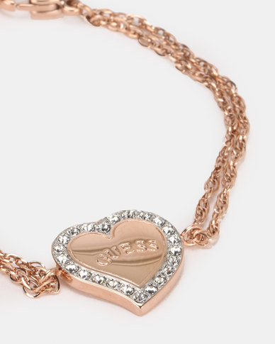 Guess Heart Warming Charm Rose Gold-Plated