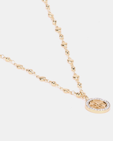 5d6434b034 Guess Tropical Sun Chain Gold-Plated | Zando