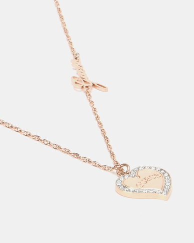 Guess Heart Warming Chain Rose Gold-Plated