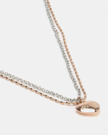 Guess Unchain my Heart 2 Tone Rosegold/Silver-Plated