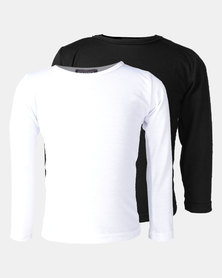 Utopia 2 Pack Basic Long Sleeve Tee Black/White